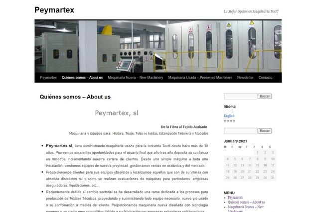 Peymartex Suministro de maquinaria y bienes de equipo para la industria textil