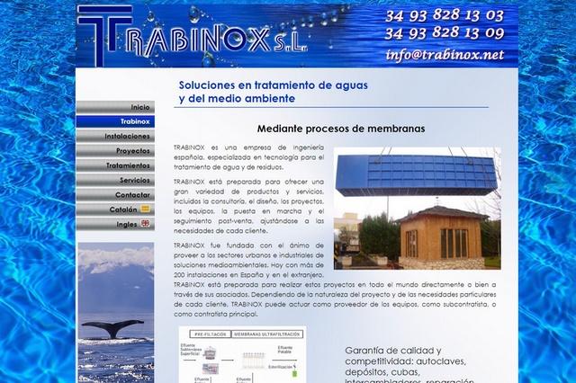 Trabinox Empresa de Ingeniería española, especializada en tecnología para el tratamiento de agua y de residuos.